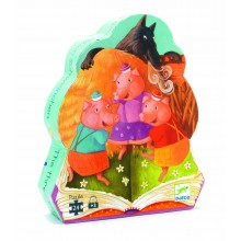 Silhouette Puzzle - Three Little Pigs