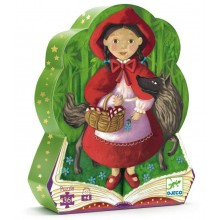 Silhouette Puzzle - Little Red Riding Hood