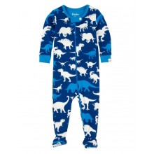 Infant Footed Coverall -Silhouette Dinos