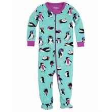 Infant Footed Coverall - Cool Penguins