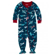 Infant Footed Coverall - Fighter Planes