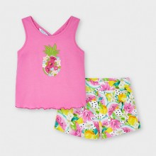 Girls T-Shirt and Shorts Set - Pink (3215)