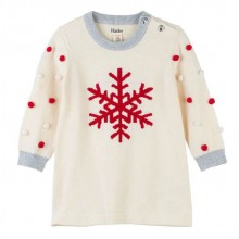 Snowflake Pom Pom Sweater Dress