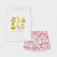 Girls Summer Party Short Set - (3218)
