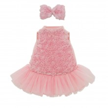 Lucky Dog Clothing Set - Rose Dress