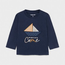 Infant Boys Long Sleeve Top - Yacht Detail - Navy (1017)
