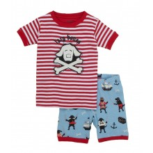 Short PJ Set - Pirate Dogs