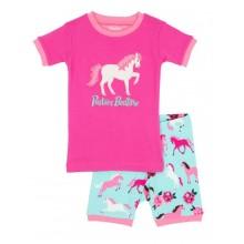 Short PJ Set - Ponies & Peonies