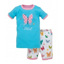 "Short PJ Set - Flying Butterflies ""Social Butterfly"""