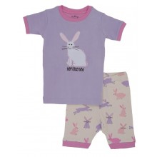 "Short PJ Set - Soft Bunnies ""Hop into Bed"""