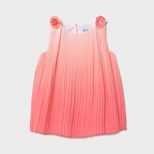Infant Girls Pleated Dress - Coral (1986)