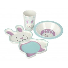 Rabbit Bamboo Dinner Set