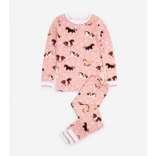 Long PJ Set - Frolicking Horses