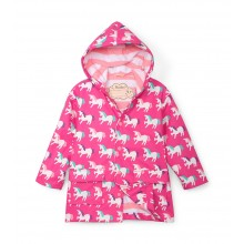 Colour Changing Raincoat - Mystical Unicorns