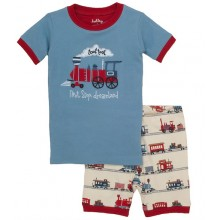 "Short PJ Set - Trains ""Next Stop Dreamland"""