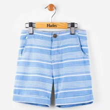 Light Blue Stripe Woven Shorts