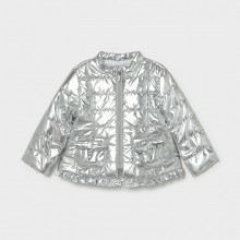 Infant Girls Padded Jacket - Silver (1487)