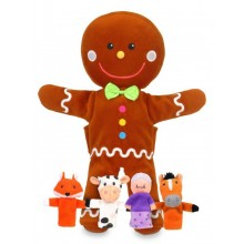 Gingerbread Man Hand and Finger Puppets